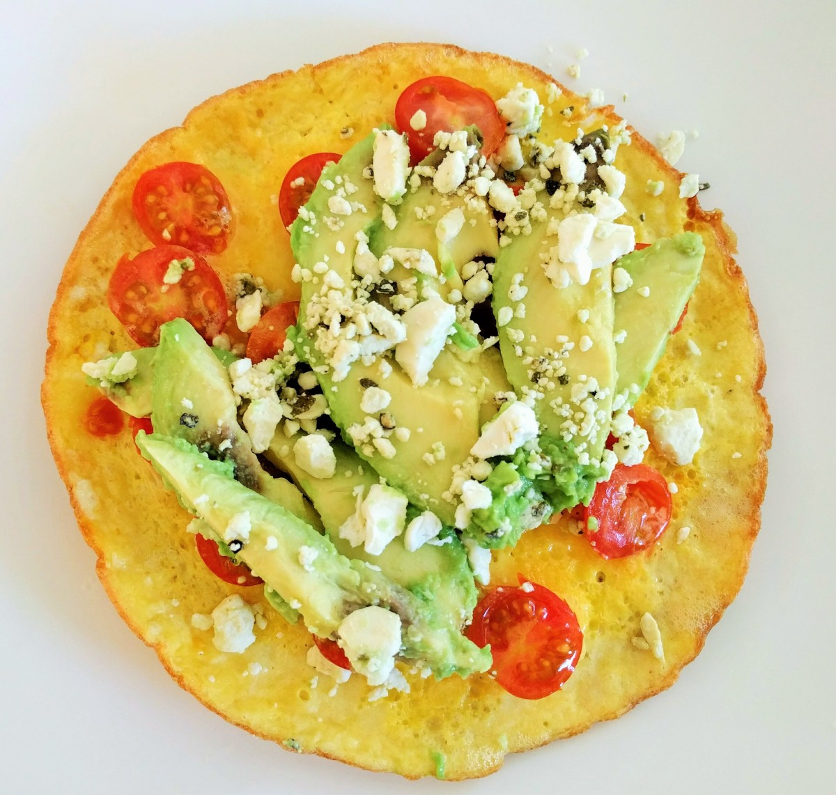 Open-Faced Omelet with Cherry tomatoes, Feta and Avocado – BE YOUR ...